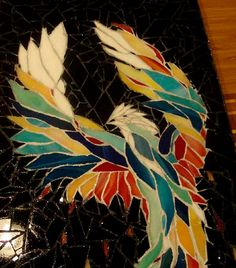 Stained Glass Mosaic Phoenix Bird Original/OOAK by zzbob on Etsy, $418.00