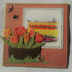 Handmade Card Making, Marianne Design, Spring Time, Card Ideas, Scrap, Painting, Tulips, Cards, Flowers