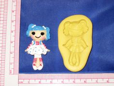 LalaLoopsy Silicone Push Mold Resin Clay Candy Food Bookscraping A484