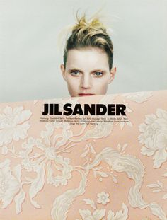 Brand poster design and photography | | photography . Fotografie . photographie | Guinevere van Seenus for Jil Sander| Photo: Craig McDean |