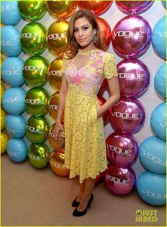 Eva Mendes: Vogue Eyewear Launch!