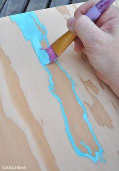 Wood Grain Wall Art Painted Step 2