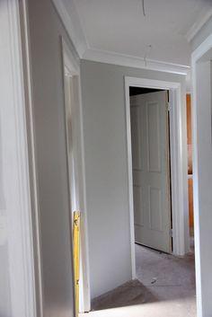 "Dulux ""Dieskau"" for the hallway. Dulux Paint Colours, Wall Paint Colors, Dulux Dieskau, Dulux Grey, Interior Decorating, Interior Design, Interior Colors, Grey Painted Kitchen, Indoor Paint"