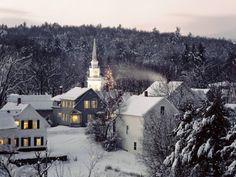 Winter in Weston, Vermont.