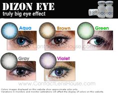We sell variety of colored contact lenses online. Circle lenses blend naturally with the eyes and creates a stunning bigger iris for charming expressive look. Green Contacts Lenses, Brown Contact Lenses, Prescription Colored Contacts, Green Colors, Aqua, Eyes, Costume Ideas, Image