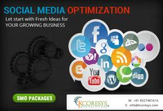Avail premier Social Media Optimization and Social Media Networking Services! SMO Services brings best-of-breed social networking for you. Cost effective and customized SMO package is now offered by Kcoresys.com ! Let your business grow through social networking-improve interaction with your customers. Just Call us at +91 85274.81614.