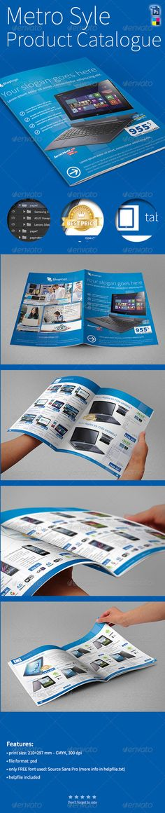 Metro Style A4 Product Catalogue