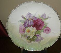 Vintage Rose Floral Plate