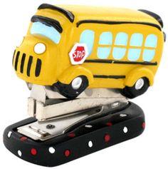 School Daze Mini School Bus Shaped Stapler #school #stapler