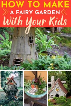 How to Make a Fairy Garden with Kids Craft Activities For Kids, Family Activities, Crafts For Kids, Moss Plant, Create A Fairy, Little Cottages, Fairy Figurines, Fake Plants, Imaginative Play