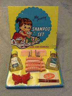 Vintage 1955 My Merry Shampoo Set Toy Doll Childrens Vanity Playset Excellent | eBay