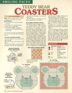 TEDDY BEAR COASTERS by CINDY MAXFIELD 2/2