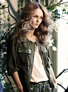 """H & M CONSCIOUS COLLECTION"" 2013 Featuring Vanessa Paradis   #backstage #model #fashion"