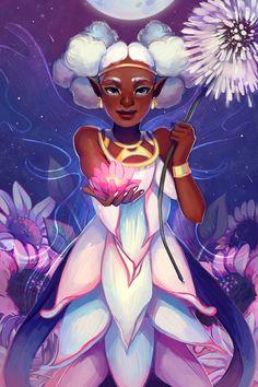 Kickstarter Exclusive Art Print by Geneva B (GDBee) Black Girl Art, Black Women Art, Art Girl, African American Art, African Art, Drawings Of Black Girls, Black Art Pictures, Anime Art Fantasy, Goddess Art