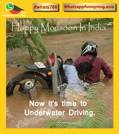 whatsapp funny message.: Monsoon Funny Image #whats786