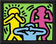 Pop Shop See No Evil Hear No Evil Speak No Evil Art Print for sale. Shop your favorite Keith Haring Pop Shop See No Evil Hear No Evil Speak No Evil Art Print without breaking your banks. Arte Pop, Mode Collage, Tableau Pop Art, Keith Haring Art, Evil Art, See No Evil, Illustration, Norman Rockwell, Art Furniture