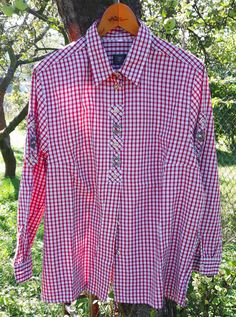 Your place to buy and sell all things handmade Buy And Sell, Shirts, Plaid, Shirt Dress, Vintage, Long Sleeve, Sleeves, Cotton, Mens Tops