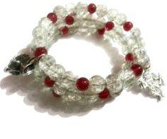 Alice in Wonderland wrap bracelet https://www.etsy.com/listing/219846319/alice-in-wonderland-clear-red-silver