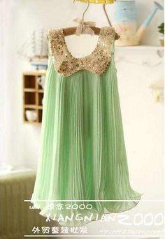 Mint Green Sequin Vintage Dress