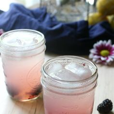 Blackberry Vodka Lemonade Fizz with Blackberries, Vodka, Lemonade, Club Soda.