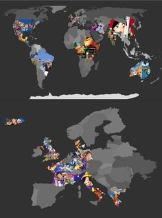 Disney movie locations. not useful in the slightest, but thats cool