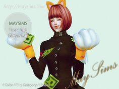 Tiger gloves at May Sims via Sims 4 Updates
