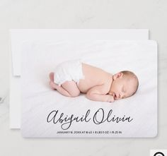 Modern Script Baby Name Photo Collage Birth Announcement The front of the card is a single large photo with an elegant and modern script overlay that stated the baby's name in black. The line below is for baby birth stats. The back offers a three photo collage a line of text for family names. The design is set as a girl but it will also fit a boy. Unique Baby Announcement, Baby Girl Birth Announcement, Birth Announcement Photos, Announcement Cards, Baby Birth, Baby Girl Newborn, Name Photo, Baby Girl Photos, Photo Black