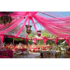 Tent Wedding in Pink