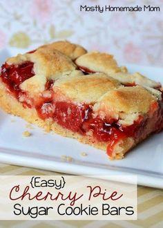 {Easy} Cherry Pie Sugar Cookie Bars | Mostly Homemade Mom