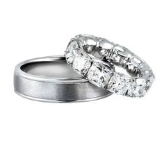 his and hers platinum wedding bands