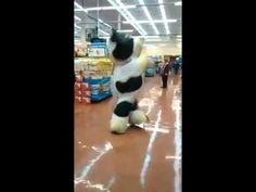 The supermarket cow dance - YouTube