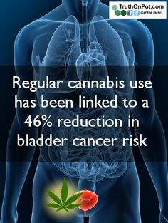 regular #Cannabis use has been linked to 46% reduction in bladder cancer