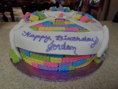 Girls Lego birthday cake