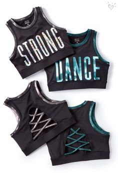 Check out all the fun metallic and cool lace-up details in Mackenzie Ziegler for Justice Active.