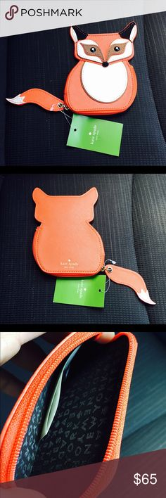 "Kate Spade fox coin purse. Super cute Kate Spade fox coin purse. 4"" x 5"". Eyes are black jewels and the tail is the zipper pull. NWT. NO TRADES kate spade Bags"