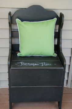 exact reason I want a front porch bench- for my mail/packages to be concealed…