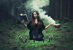 A witch and her magick; I love this picture, please check out this girl's art!