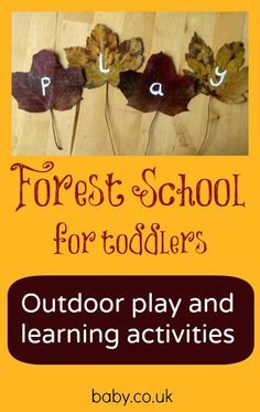 Forest school for toddlers - love these ideas for outdoor maths, literacy and art. @Monica Forghani Goodwin this might be useful to you