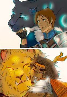 Lance, Hunk and their lions