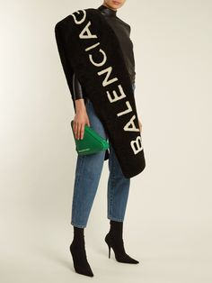 Reversible shearling scarf | Balenciaga