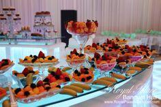 Fruit table at Royal Palace Banquet Hall Glendale CA 818.502.3333.