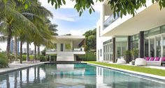 Design brand Luminaire has teamed up with Florida interiors studio Poggi Design to overhaul a tropical estate on La Gorce Island in Miami Beach Outdoor Spaces, Outdoor Decor, Miami Beach, Habitats, Summer Time, Branding Design, Paola Lenti, Tropical, Florida