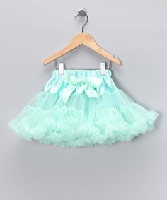 Take a look at the Mint Green Satin Pettiskirt - Toddler & Girls on #zulily today!