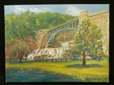 American Impressionism oil painting by M. J. Maee signed and dated 08 #Impressionism