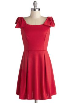 Heartfelt Hello Dress. The rich-red hue and timeless design of this delightful dress deserve a warm welcome. #red #modcloth