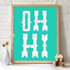12x16 Oh Hi Print. $20.00, by 2142stuart via Etsy.