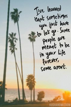 Some people are meant to be in your life forever. Some aren't. Quote