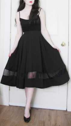 pretty organza black panel skirt