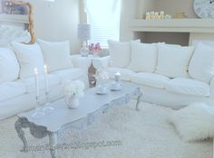My Shabby Chic Home ~ Romantik Evim: @ My Living Room - Oturma Odasi