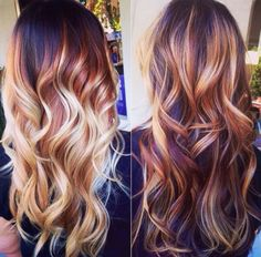 2015 brown hair color trends balayage with blonde highlights. I miss my balayage. Hair Color Trends Balayage, Hair Trends, Blonde Balayage, Balayage Highlights, Auburn Balayage, Mahogany Highlights, Balayage Hairstyle, Balayage Diy, Color Highlights